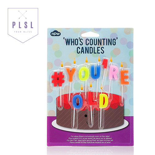 [PLAY PLSL] #YOU'RE OLD 알파벳 생일 축하 초 CANDLES
