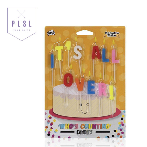 [PLAY PLSL] IT'S ALL OVER 알파벳 생일 축하 초 CANDLES